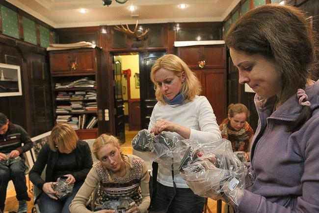 На занятиях в студии, Минск, фотокурсы, курс фотографии Вадима Качана, фотошкола